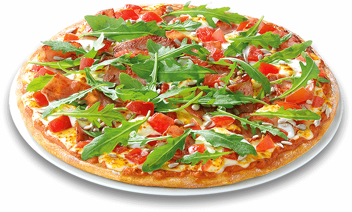 Pizza Grasgrün