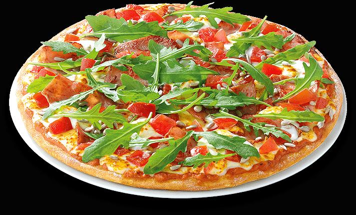 Pizza Grasgrün