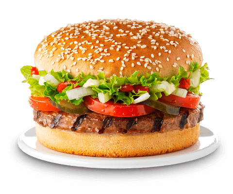 Mittagsangebot Burger mit CaP-Ecks