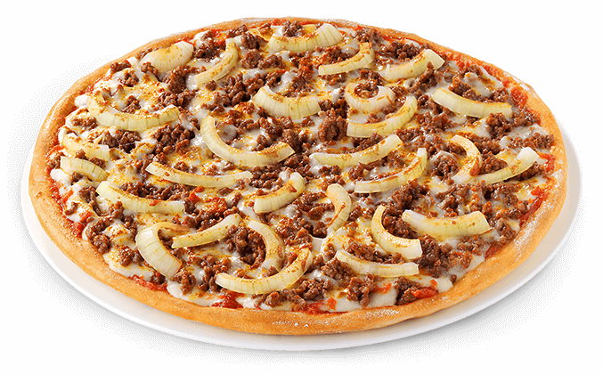 Pizza Beef & Onions