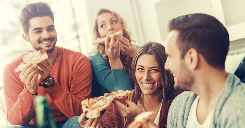 Delicious pizza snacks